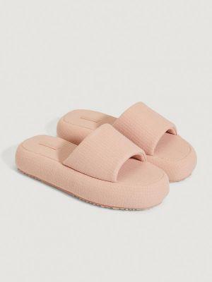 Розовые хлопковые тапочки Oysho
