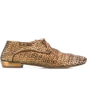 Оксфорды кожаные на шнуровке Marsèll
