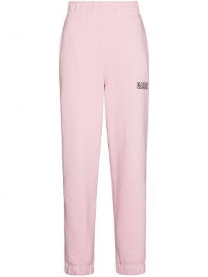 Спортивные брюки из полиэстера - розовые Ganni