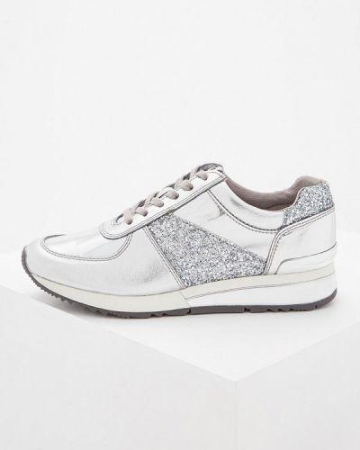 Кроссовки серебряного цвета Michael Michael Kors