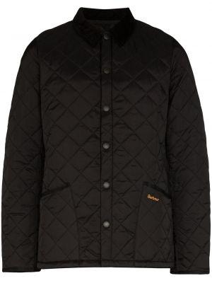 Стеганая черная стеганая куртка Barbour