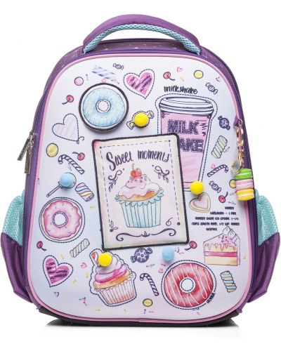 Фиолетовый школьный ранец Hatber