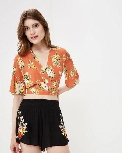 Блузка с коротким рукавом осенняя Miss Selfridge