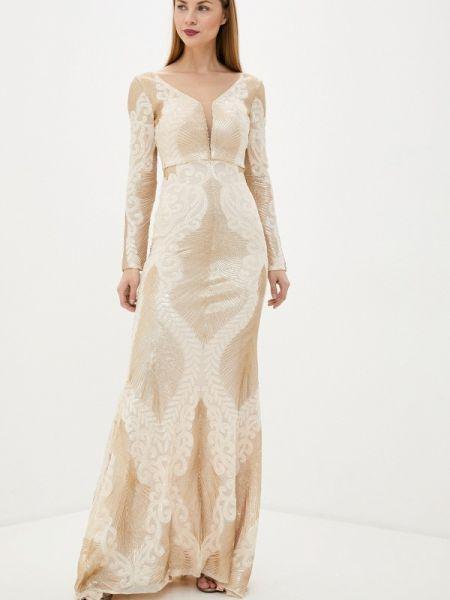 Свадебное платье бежевое весеннее Soky & Soka