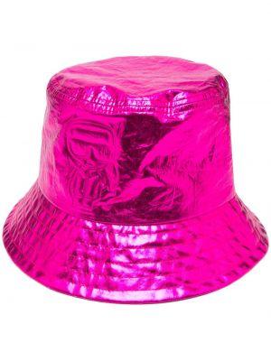 Розовая панама круглая в рубчик Karl Lagerfeld
