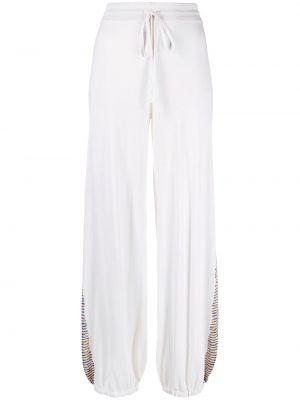 Свободные кашемировые белые брюки Missoni