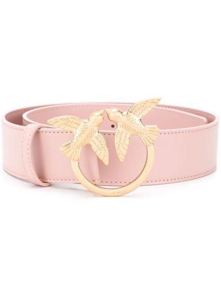 Розовый кожаный ремень с пряжкой Pinko