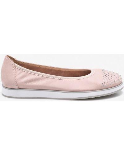Розовые брюки кожаные Caprice
