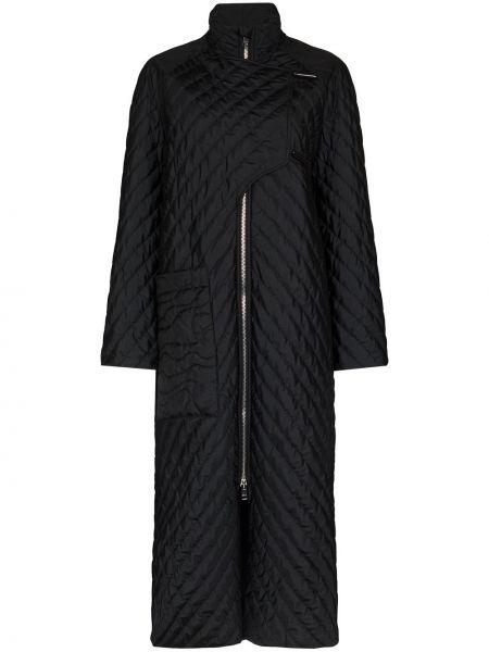 Стеганое пальто - черное Ganni