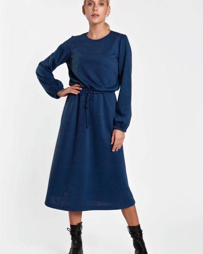 Трикотажное платье - синее Nenka