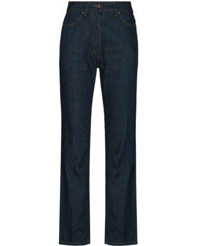 Klasyczne niebieskie jeansy z paskiem Lemaire