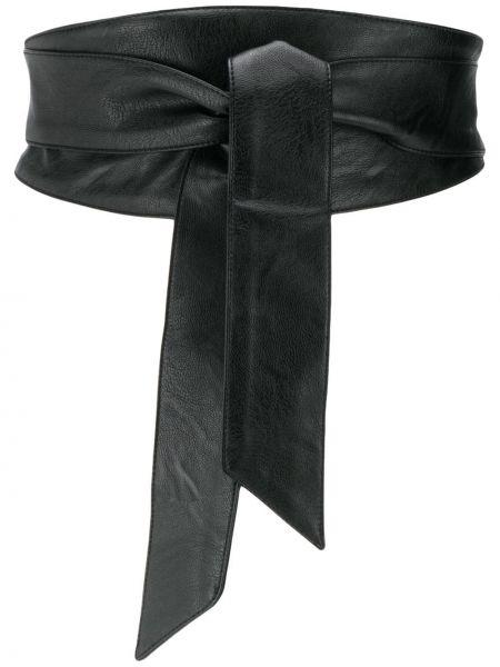 Черный широкий ремень свободного кроя с завязками Federica Tosi