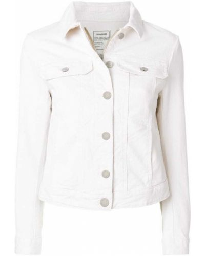 Джинсовая куртка хлопковая белая Zadig & Voltaire