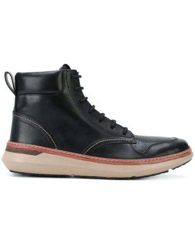 Ботинки на шнуровке кожаные джинсовые Armani Jeans
