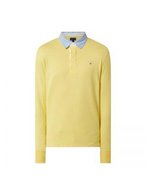 T-shirt bawełniana - żółta Gant