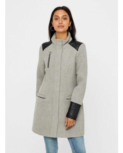 Шерстяное пальто - серое Vero Moda