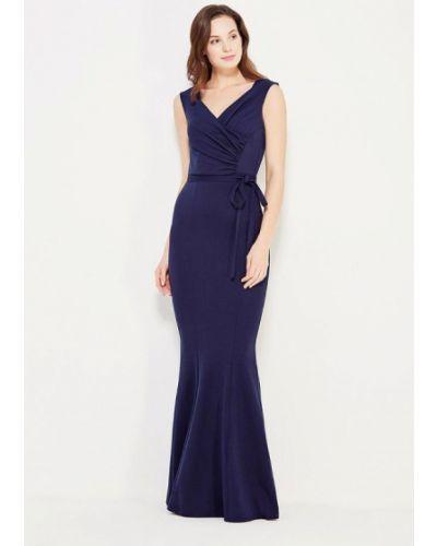 Платье осеннее синее City Goddess