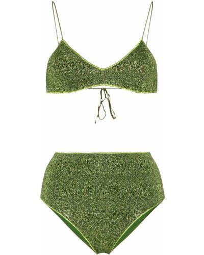 Зеленые бикини с люрексом эластичные Oseree