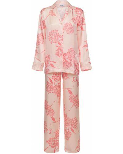 Пижама на пуговицах - розовая La Perla