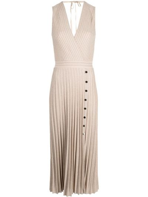 Плиссированное платье миди без рукавов с вырезом D.exterior