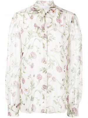 Biała bluzka z jedwabiu Giambattista Valli