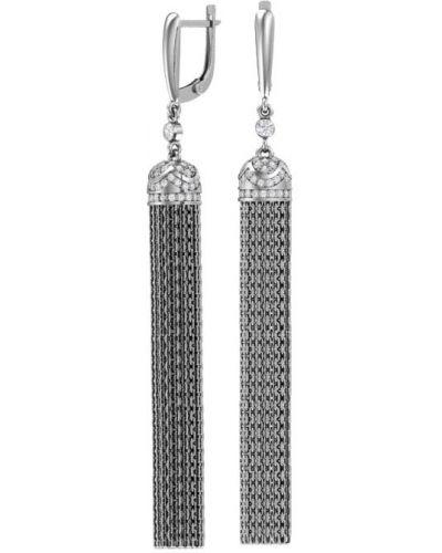 Серебряные серьги удлиненные серебряный Pokrovsky