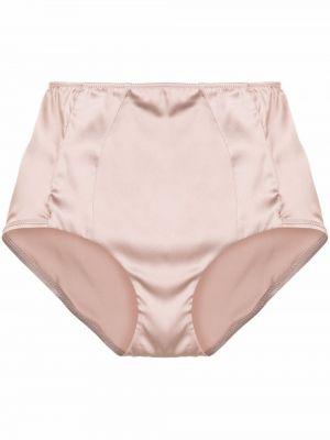 Розовые шелковые брифы с завышенной талией Carine Gilson