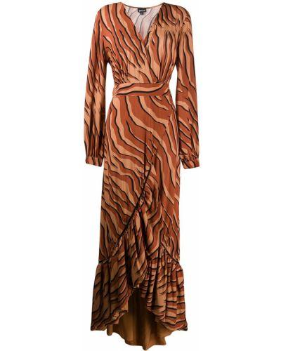 Платье макси с V-образным вырезом с длинными рукавами Just Cavalli