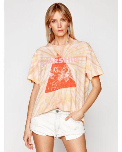 Pomarańczowy t-shirt One Teaspoon
