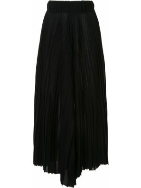 Czarne spodnie z wysokim stanem wełniane Dusan