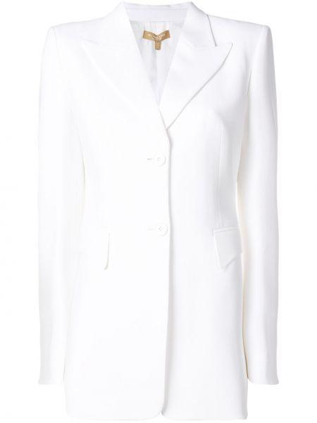 Однобортный приталенный удлиненный пиджак с карманами Michael Kors Collection