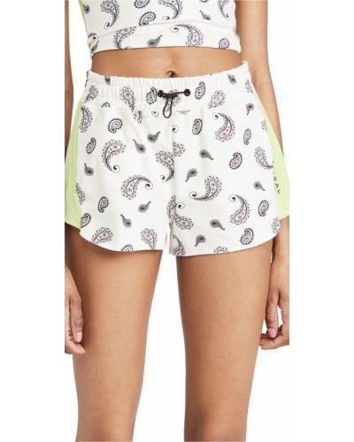 Трикотажные белые шорты на резинке Koral Activewear
