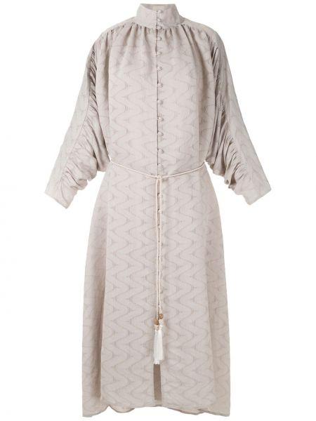 Платье миди на пуговицах с драпировкой Framed
