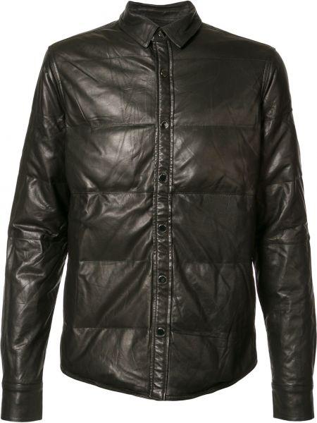 Кожаная черная кожаная куртка Private Stock