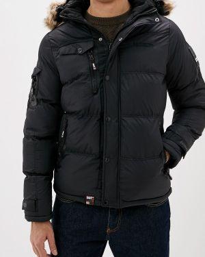 Утепленная куртка демисезонная черная Geographical Norway