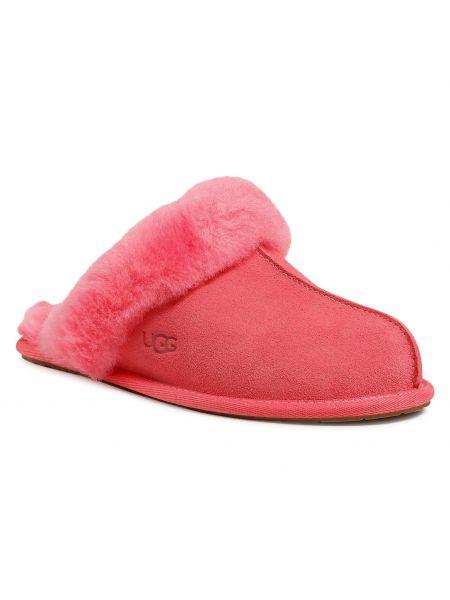 Sandały zamszowe - różowe Ugg