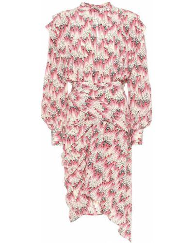 Деловое платье розовое шелковое Isabel Marant