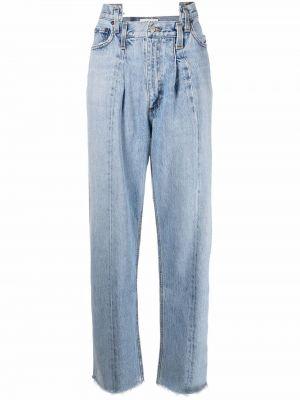 Синие хлопковые прямые джинсы классические Agolde