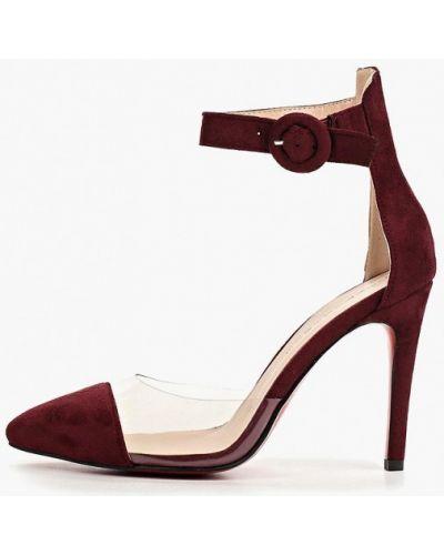 Туфли на каблуке бордовый замшевые Teetspace