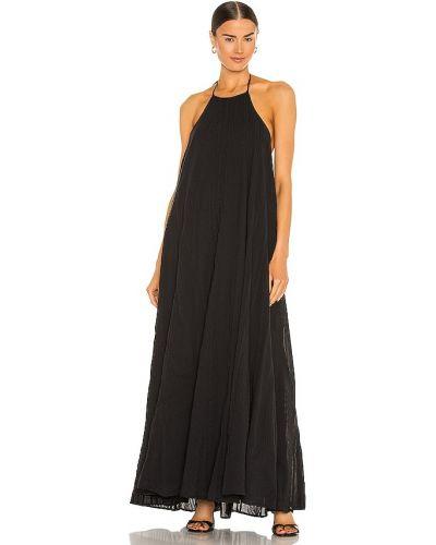 Черное платье макси для полных с подкладкой L'academie
