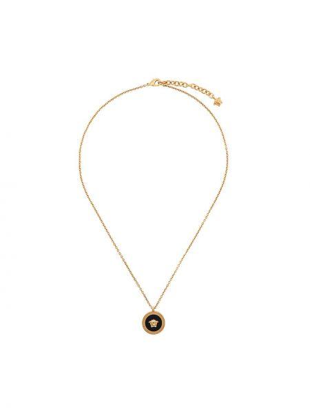 Ожерелье золотое с подвесками металлическое Versace