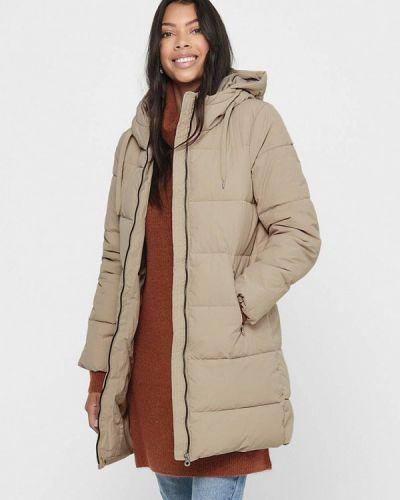 Бежевая теплая куртка Only