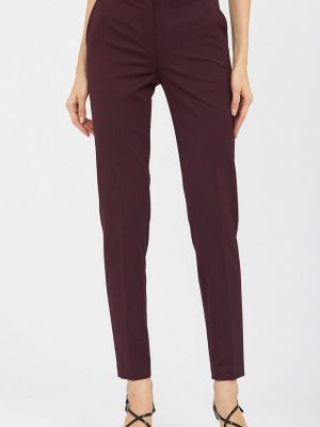 Бордовые брюки узкого кроя Calista