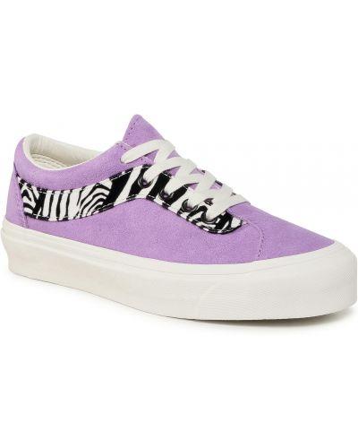 Skórzany fioletowy skórzane sneakersy Vans