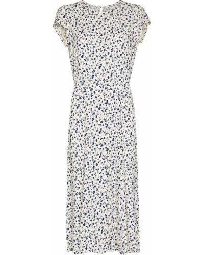 Платье миди с короткими рукавами - белое Reformation