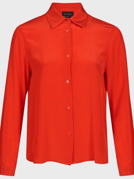 Красная шелковая блузка Luisa Spagnoli