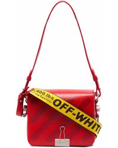 Красная кожаный сумка Off-white