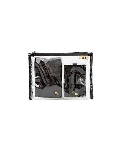 Кожаная сумка дорожняя черная Beis