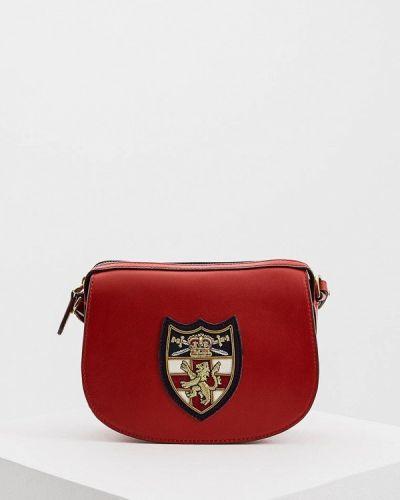 Кожаная сумка через плечо из искусственной кожи Polo Ralph Lauren