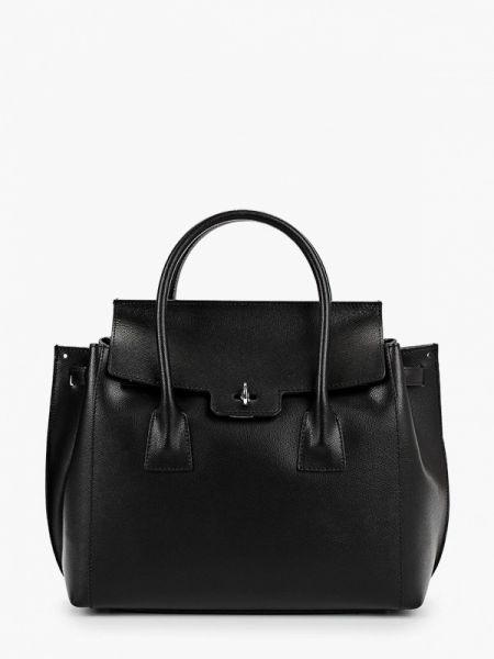 Черная кожаная сумка из натуральной кожи Roberta Rossi